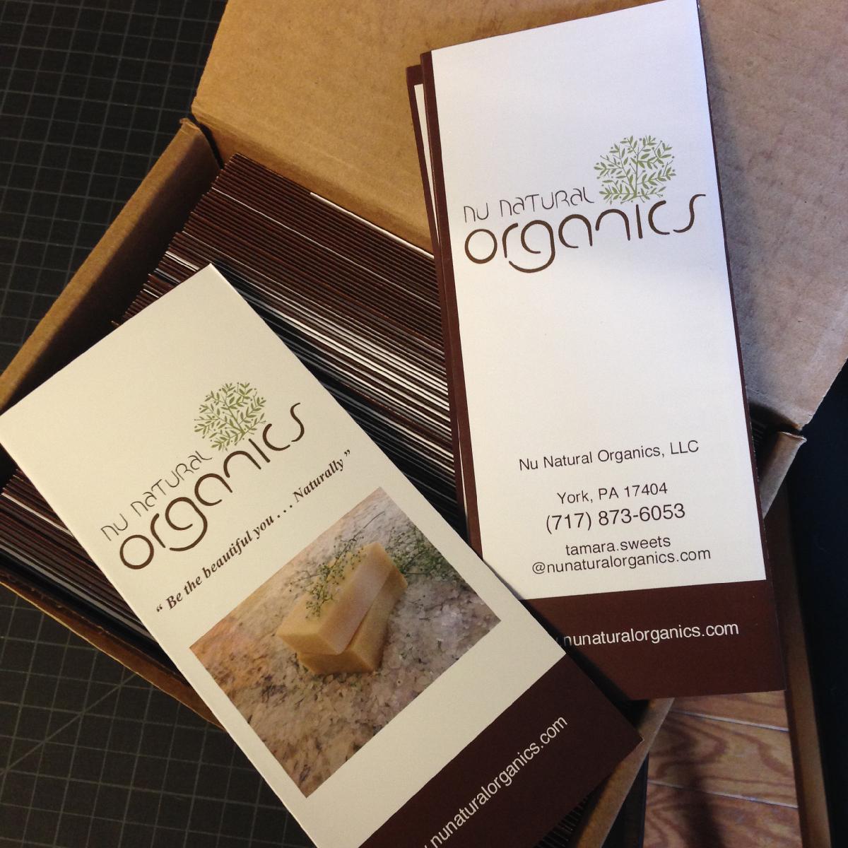 Nu Natural Organics brochure
