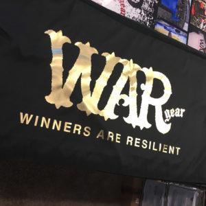 WAR tablecloth