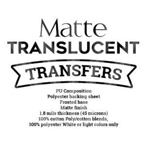 Matte-Translucent